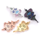 Micro Pave Colorful Cubic Zircon Realistic Copper Spacer Beads for Jewelry Making DIY Accessories Cute Christmas Tree Charms