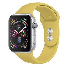 Силиконовый ремешок для часов Apple Watch 44 мм 42 мм iwatch series 5 4 3 2 1, браслет 40 мм 38 мм, аксессуары для умных часов, петля(Китай)