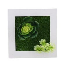 Йо Чо Искусственные цветы суккулент растение рамка 3D Съемная безвредная настенная художественная рамка гостиная Свадебная вечеринка дома...(Китай)
