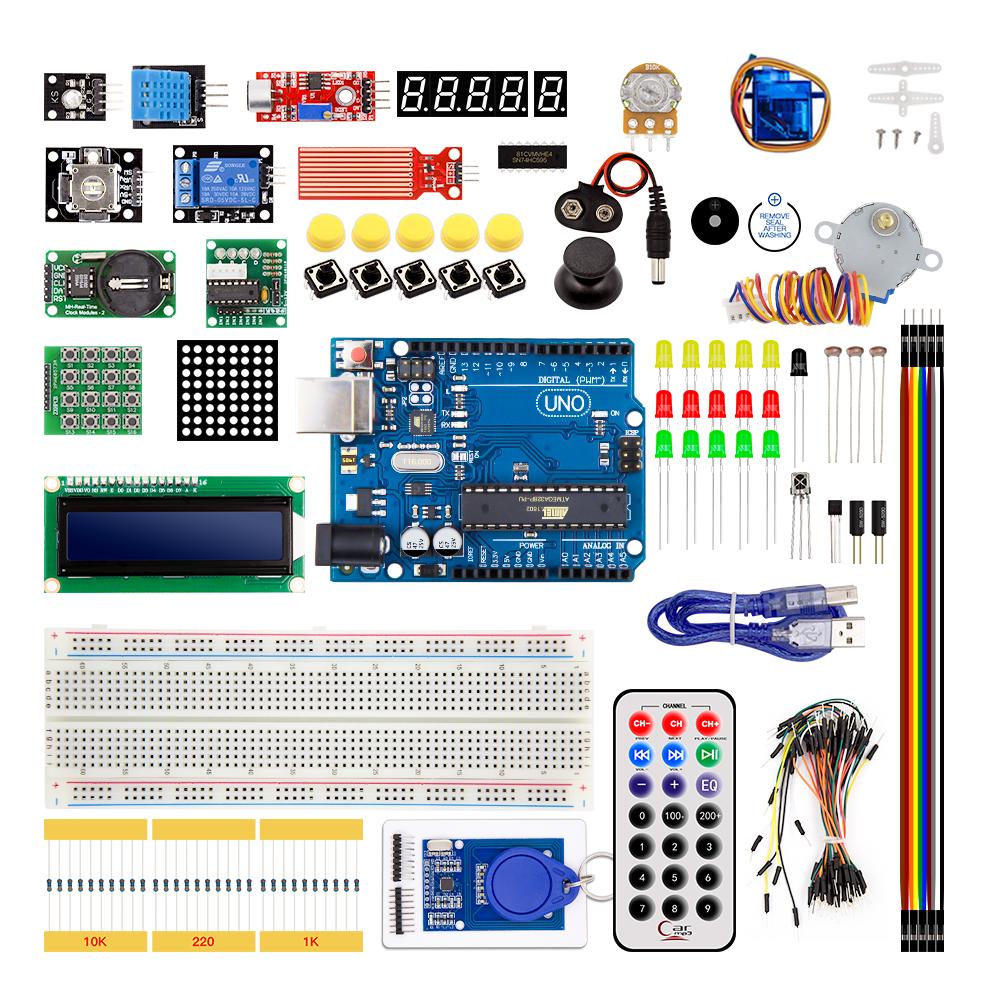 คุณภาพสูง Atmega328P Uno R3 เรียนรู้ชุดสำหรับ Arduino Uno R3