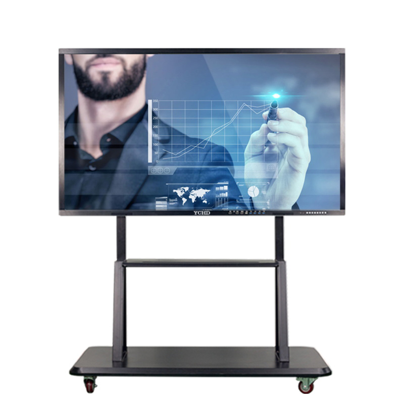 50 inch touch screen 4k LCD infrared touch glass screen and wireless monitor with wall mounted digital <strong>TV</strong>
