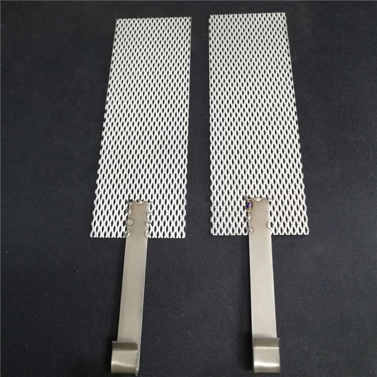 Stretch metal mesh 5 x 10 hole size 99.99% Ag pure silver nickel fecral electrode titanium anode expanded metal mesh for battery