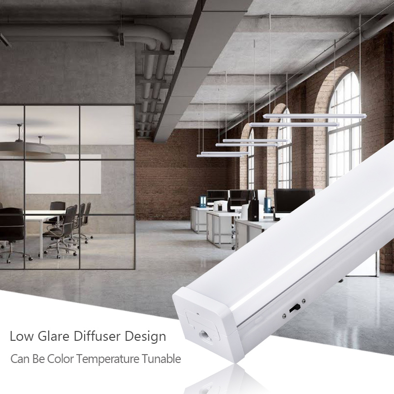 Top Sale ETL Retail Store Shop Warehouse 2Ft 4 Ft 20W 40W Engineering Project Linear Led Batten Tube Light With Dimming Button