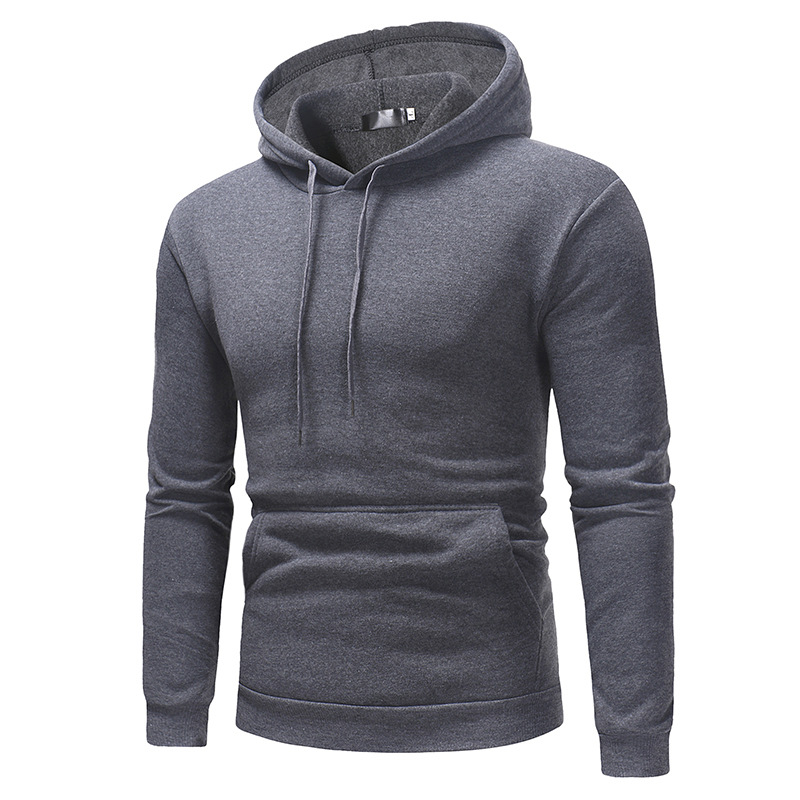 2019 New Autumn Winter Men Polo Sweater Shirt OEM Custom Logo Hoodies With Pocket 11