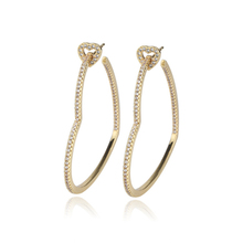 En gros <span class=keywords><strong>Bling</strong></span> Cristal Strass Zircon Cz Oreille <span class=keywords><strong>Bijoux</strong></span> En Forme De Coeur Grand Or Argent Cerceau Boucles D'oreilles Femmes <span class=keywords><strong>Bijoux</strong></span>