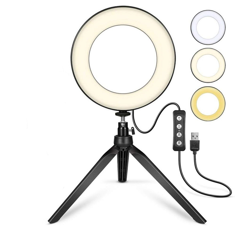 6 inch Aro De Luz Selfie Ring Light LED Ring Light With Tripod Stand