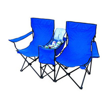 Outdoor popular lightweight folding navy blue reclining beach chair foldable camping chair with cooler