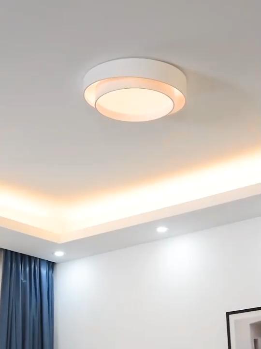 Nordic modern minimalist ceiling lamp atmospheric bedroom master bedroom round led minimalist lamp