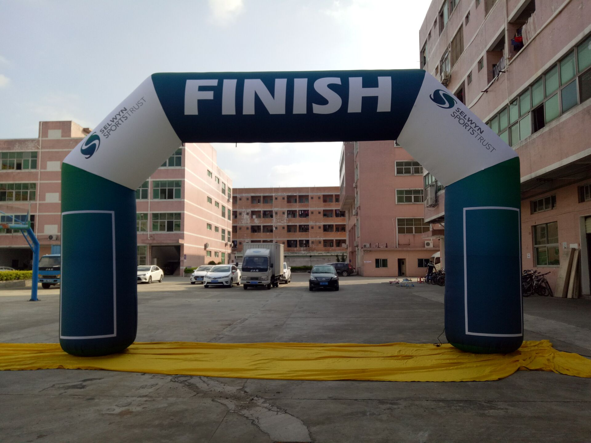 6X4X1m Custom Printed Event Promotion Racing Start and Finish Inflatable Archway