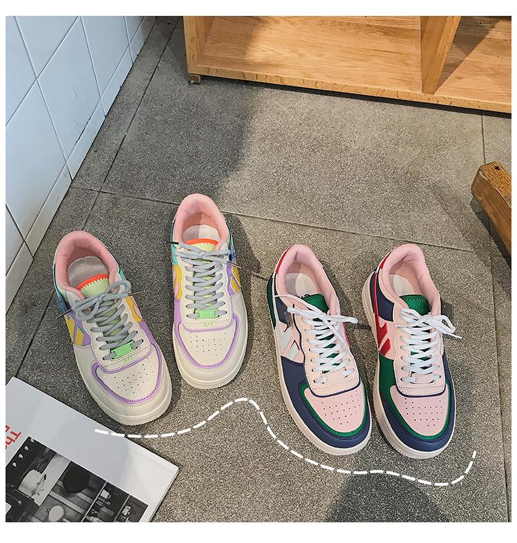 Nouvelle arrivée multicolore femmes sneaker à vendre