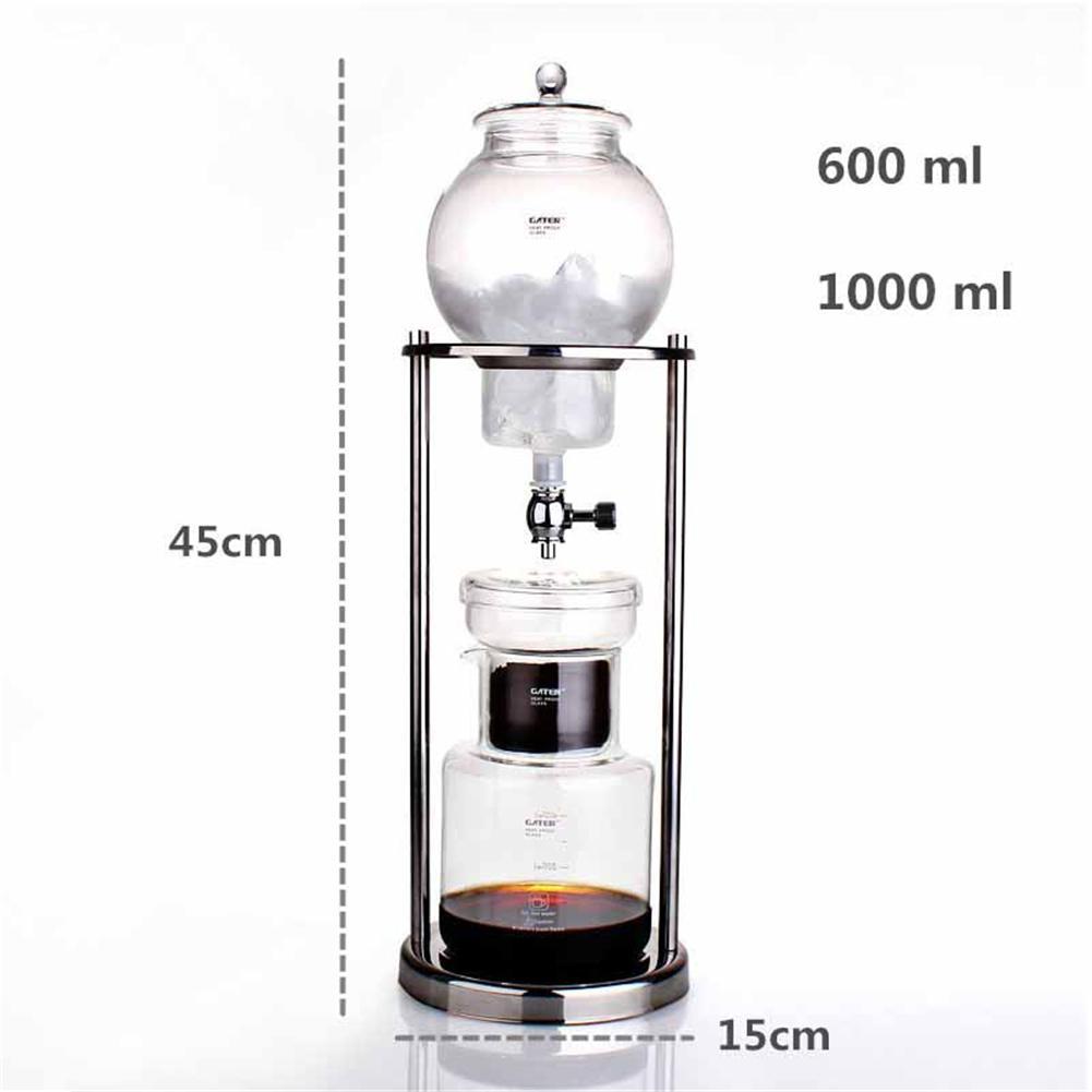 600 мл кофе инфузионный горшок многоразовый стеклянный фильтр инструмент эспрессо кофе капельница бутылка льда Cold coffee деталь для кофемашины(Китай)