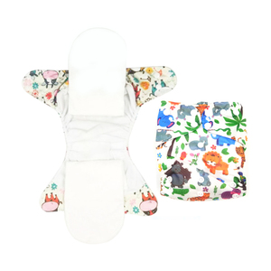 super soft night aio cloth diaper heavy wetter reusable bamboo AIO fitted diaper custom printer