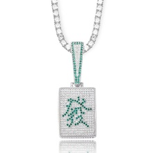 Nieuwe Mahjong Mahjong Welvaart Individualiteit Hiphop Chao Man Opknoping Hai Man Zirkoon Hip Hop Ketting Bling Tennis Chain Rock