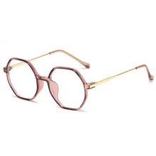 SO & EI Ins Популярные Ретро TR90 полигональные женские очки оправа прозрачные линзы Модные трендовые мужские Оптические очки оправа(Китай)