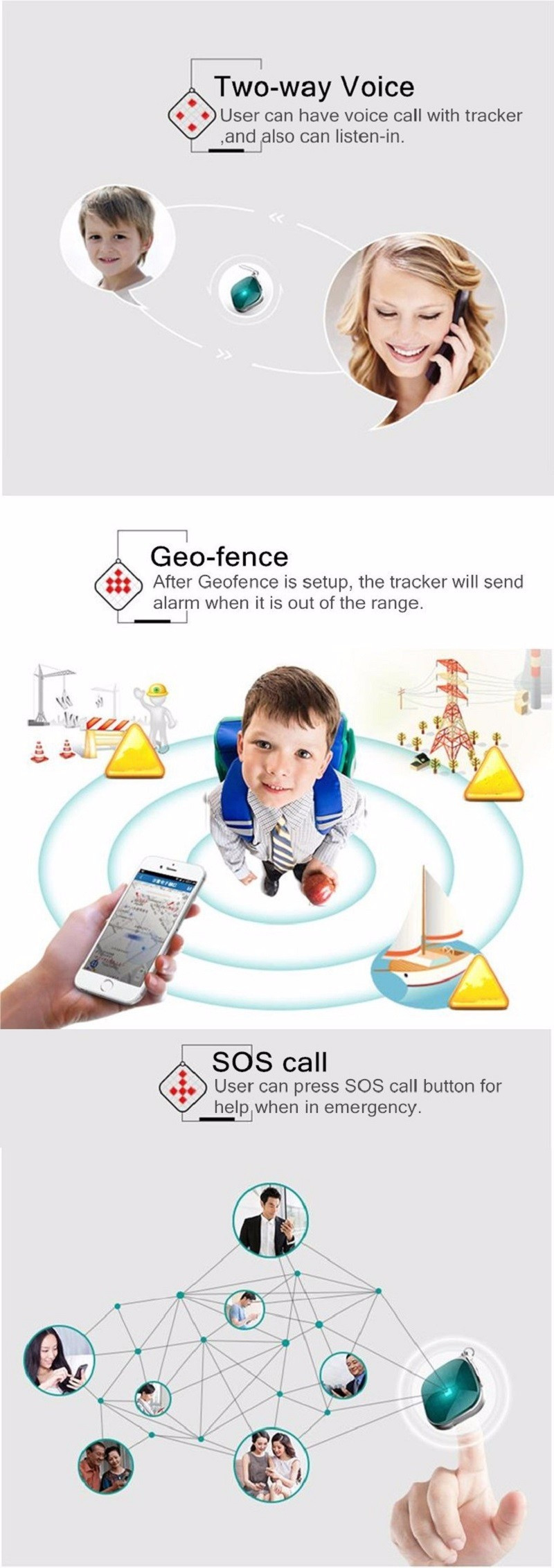 GPS Mini Tracker Children Kids Portable Tracker GPS Tracking Device
