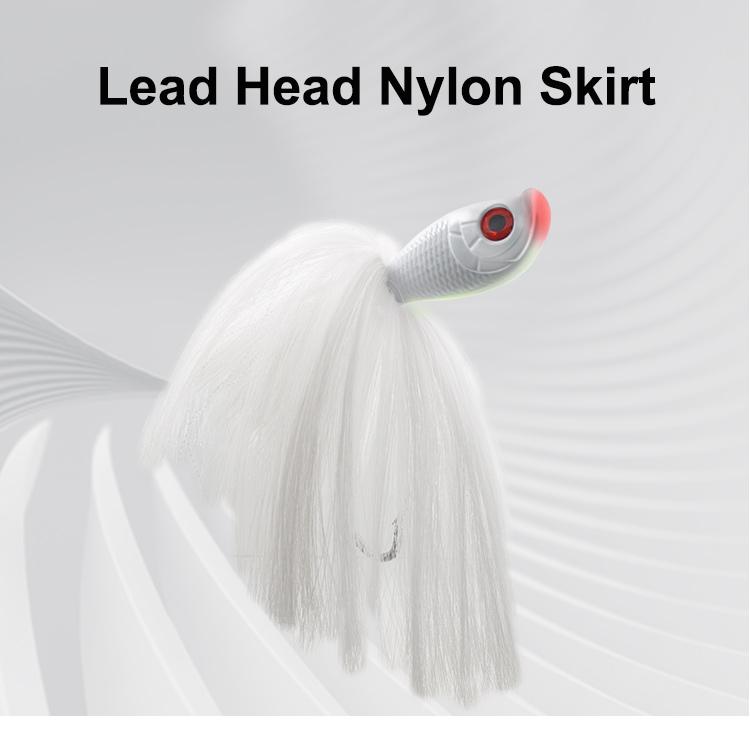Kmucutie Mojo 6 oz & 24 oz Mojo Lure lead head nylon skirts bucktail jig bait