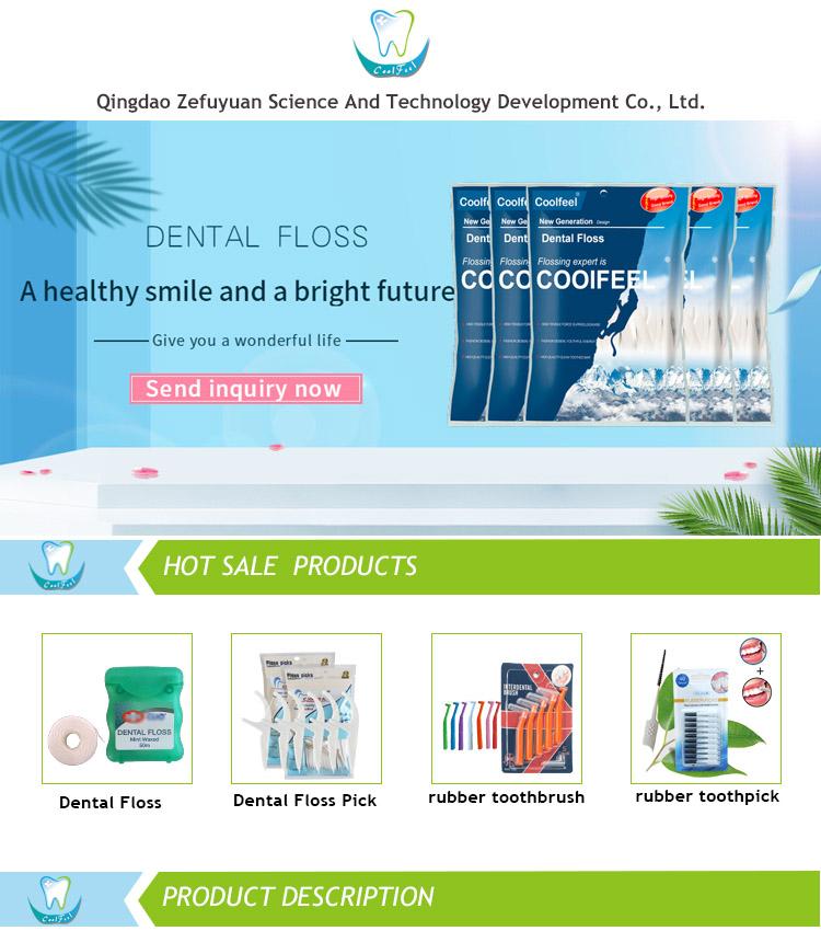 Personal Oral Care Custom Dental Floss Plastic Angled Toothpicks