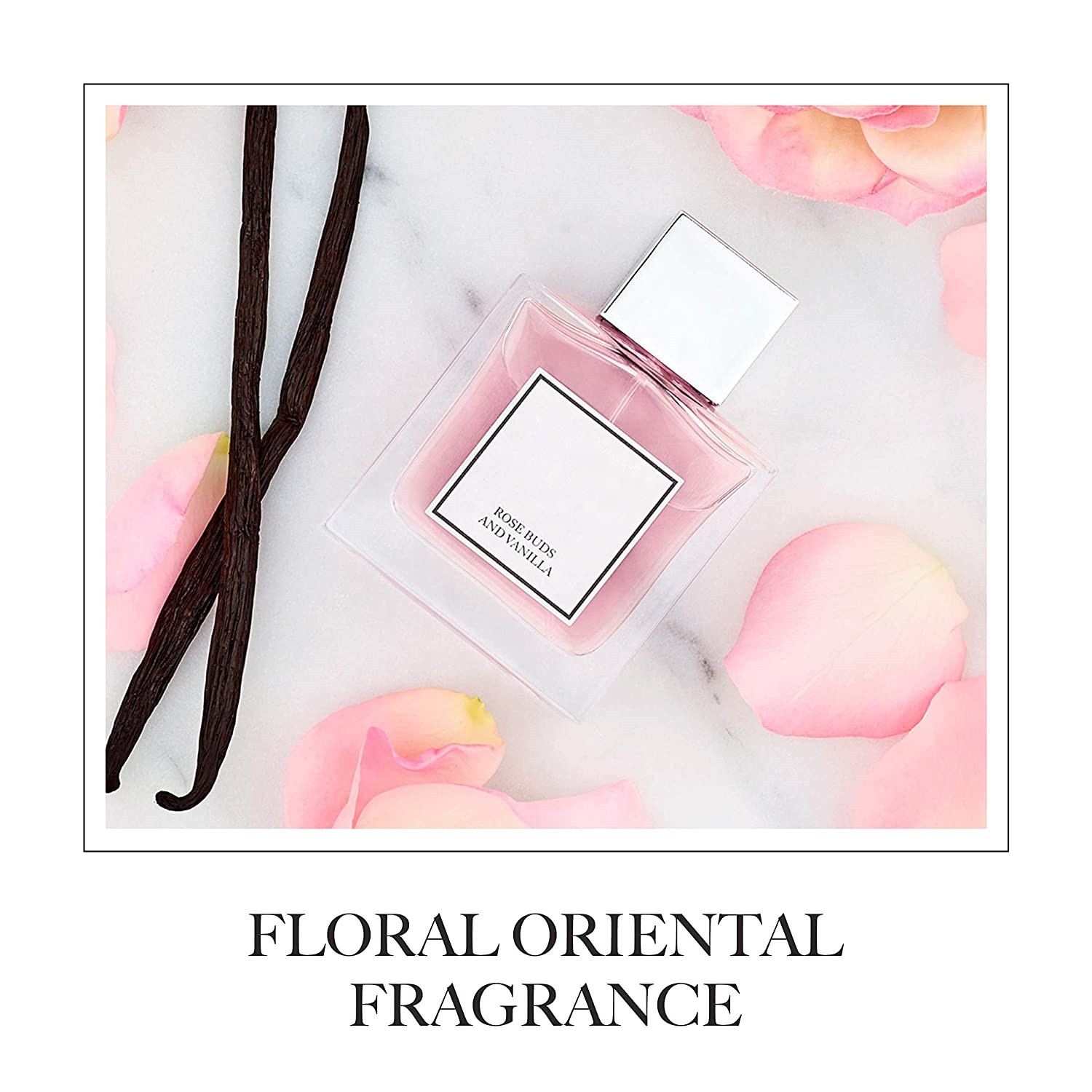 Private Label Perfume Bottles Natural Rose Bud And Vanilla Perfume Fragrance