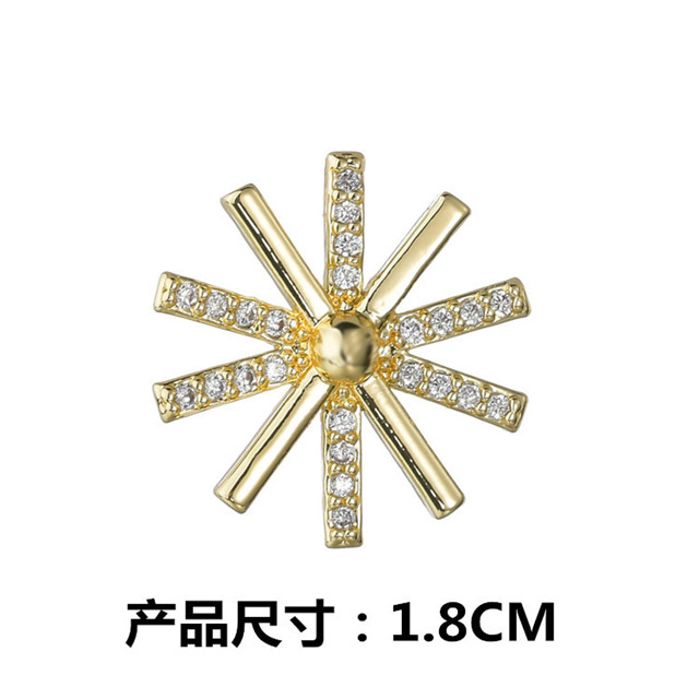 Collar Buckle Jewelry Descendants Of The Sun Plated 18K Gold Brooches