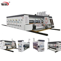 ZH-SYKM-H Hot Sale Best Quality 3 Colors Flex Printing Press Die Cutting Machine Price Used For Corrugated Carton