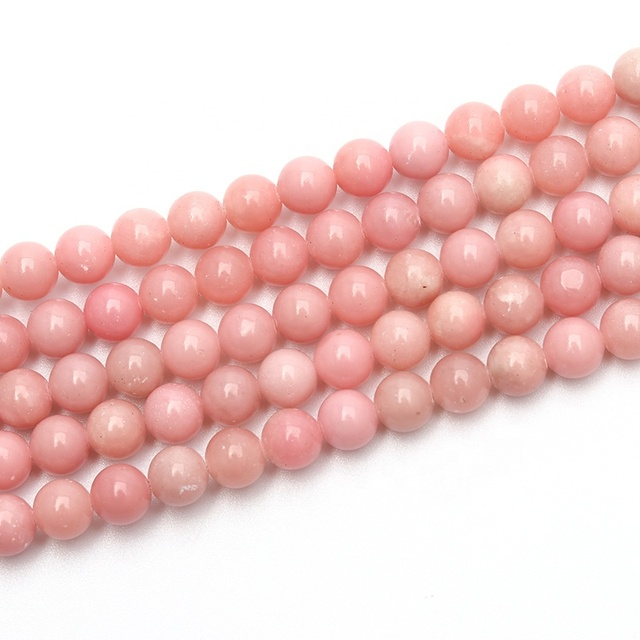 High Quality Natural Precious Stone Pink Opal Rare Gemstone Small Beads Rose Opal Beads