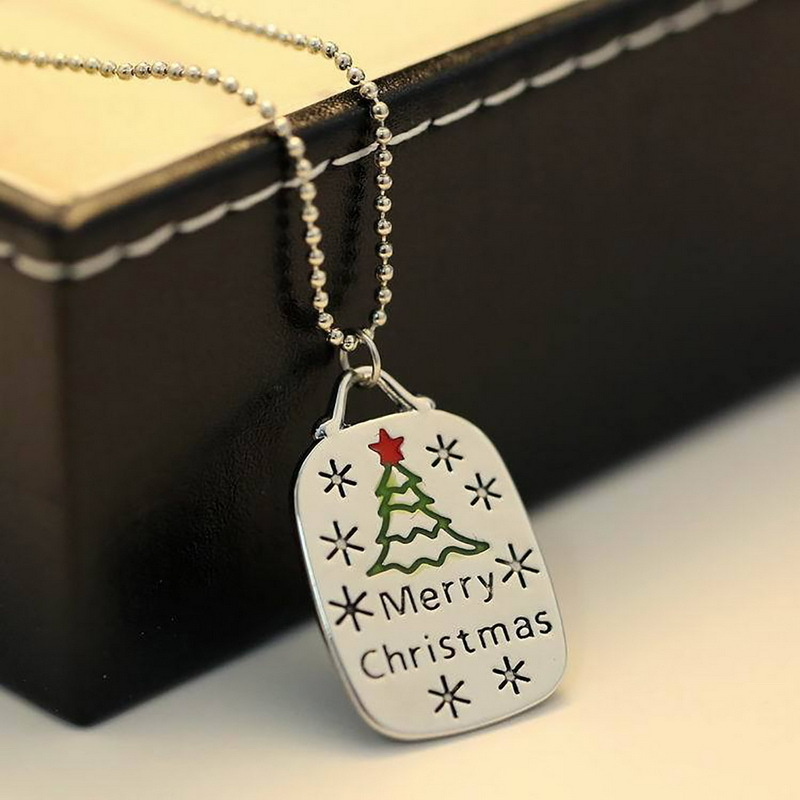 Christmas necklace merry Christmas pendant jewelry Christmas gifts necklace for women girls
