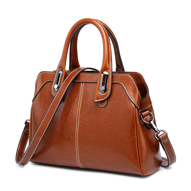 Женские сумки для бизнеса Realer, Ретро сумка на плечо для отдыха, высококачественные кожаные сумки через плечо для женщин, сумка-мессенджер 2020(Китай)