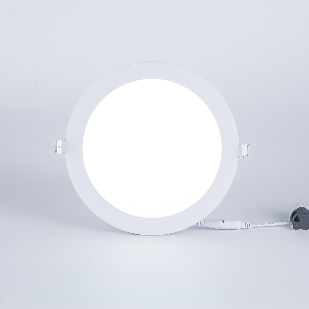 ホット販売格安価格oem odm smd 24v dc 18w led埋め込みスリム天井ラウンドledパネルライト