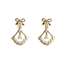 fashion baroque jewelry aretes de mujer 925 sterling silver gold plated cubic zircon crystal dangle earrings