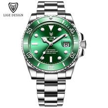 2020 LIGE часы Мужские автоматические механические турбийоны часы модные сапфировое стекло 316L сталь 100 водонепроницаемые часы NH35 механизм(Китай)