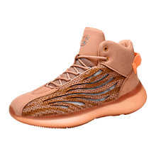 Светящаяся мужская повседневная обувь с высоким вырезом; Дышащая Баскетбольная обувь для бега; Амортизирующая противоскользящая обувь; ...(Китай)