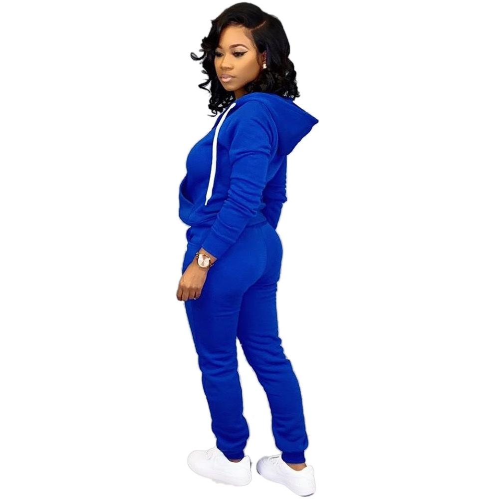 custom women tracksuit two piece set hoody sweatsuit