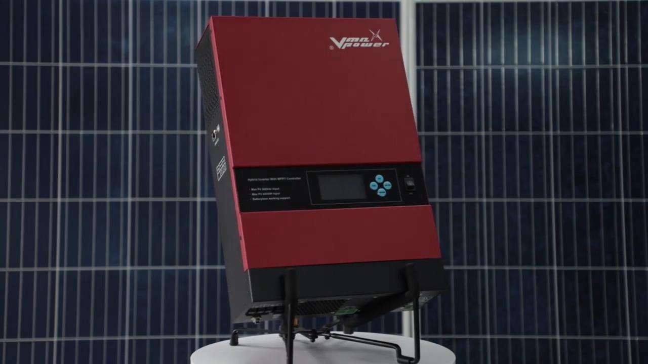 Vmaxpower 3Kw Ar Condicionado Híbrido Solar Inversor MPPT carregador Off Sistema Solar Grade Casa 24v Dc de Onda Senoidal Pura para Ac inversor
