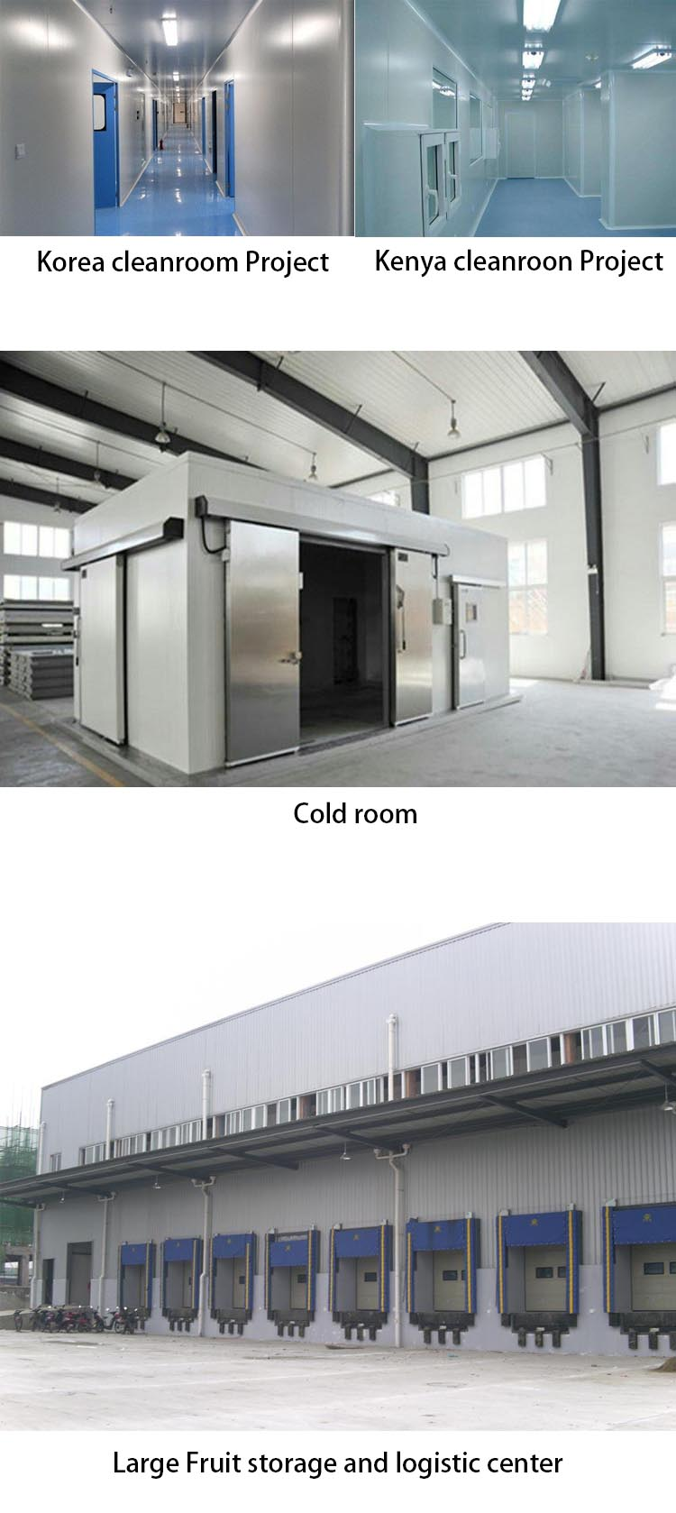 Fire rated pu foam sandwich panels for cold room install