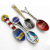 Customized enamel absinthe spoon