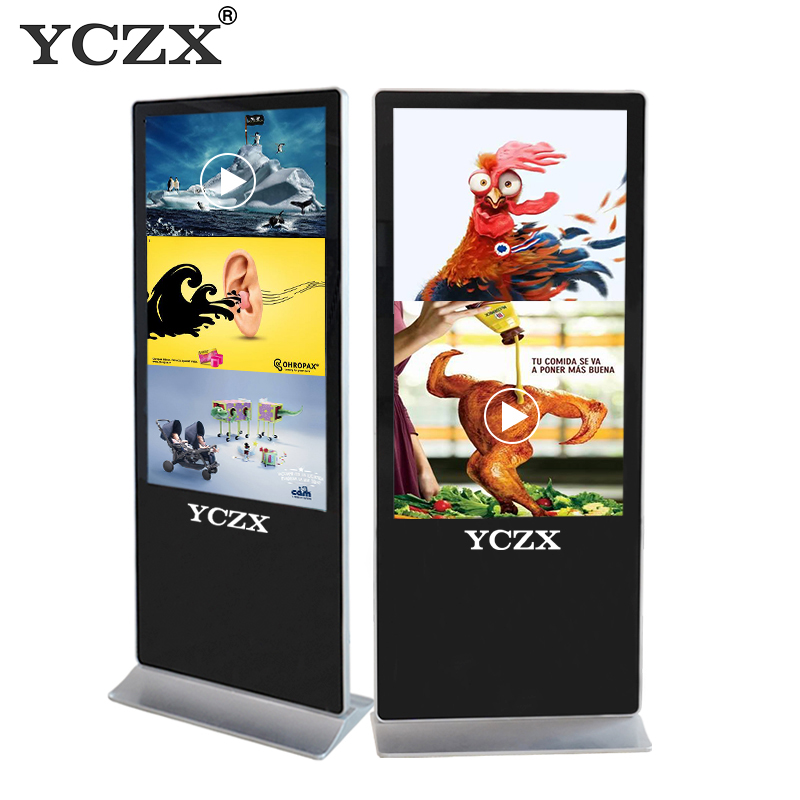 43 inch Indoor Floor Touchscreen Vrijstaande digital signage Reclame Display LED