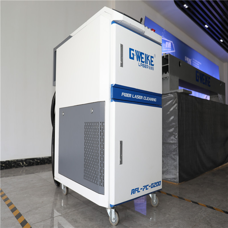 100w Stain removal stainless steel fiber laser cleaning machine for surface roughening