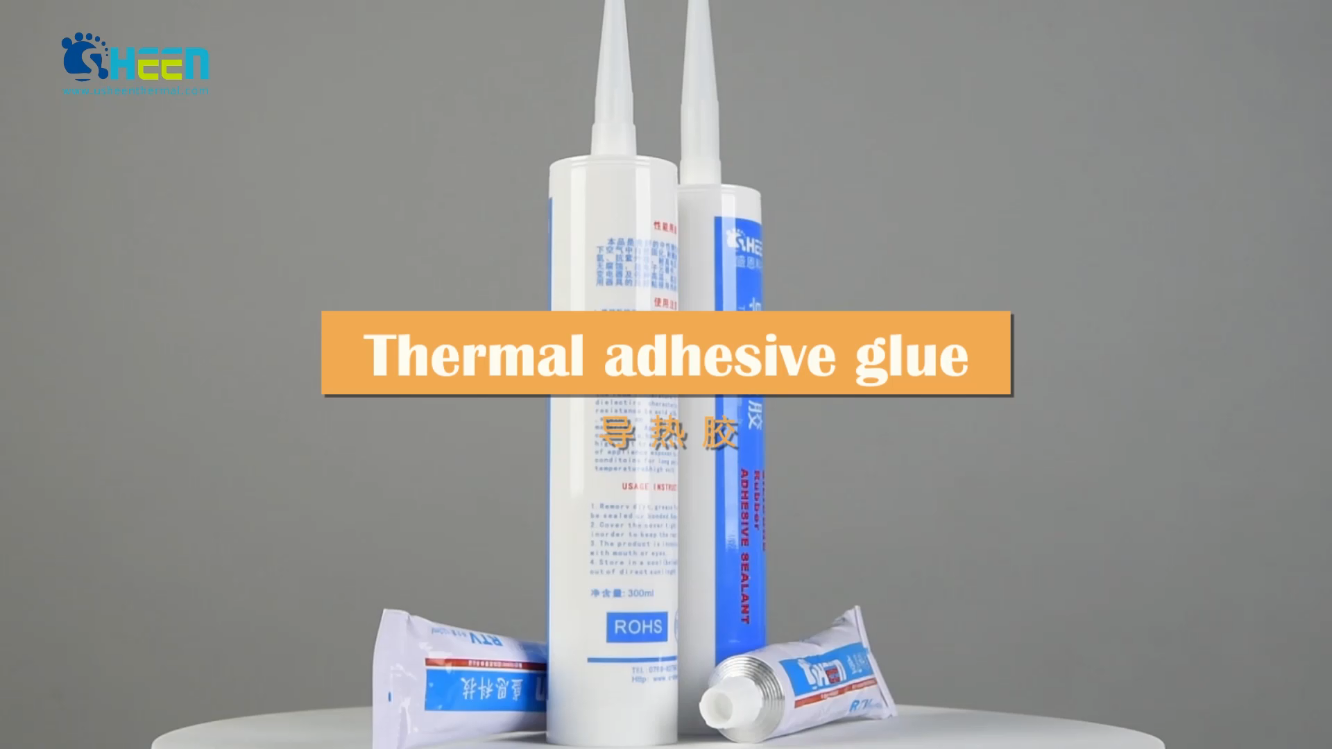 White 1.5W TIV800-15 series Quick Cured Heat Transfer Thermal Silicone Adhesive Glue For Led Bond