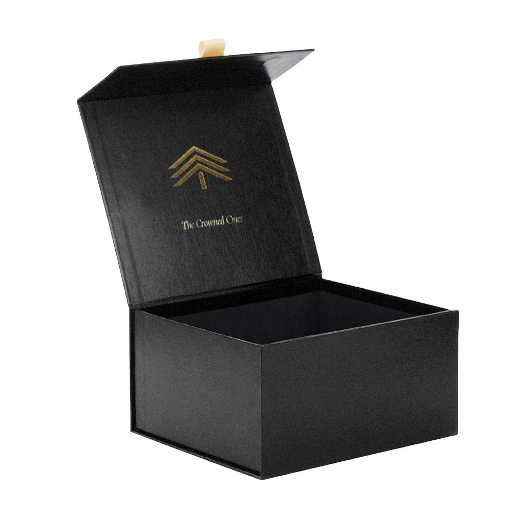 Lüks özel siyah renkli baskılı kare sert mıknatıs karton manyetik kap beyzbol şapkası kutuları ambalaj kağıt hediye kutusu