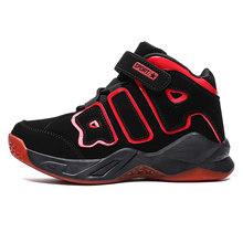 Высокое качество, мягкие Нескользящие Детские кроссовки, Баскетбольная обувь на толстой подошве для мальчиков, детская спортивная обувь, у...(Китай)