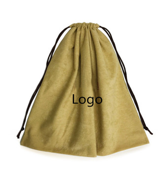 High Quality Large Soft Velvet Gift Pouch with Drawstring