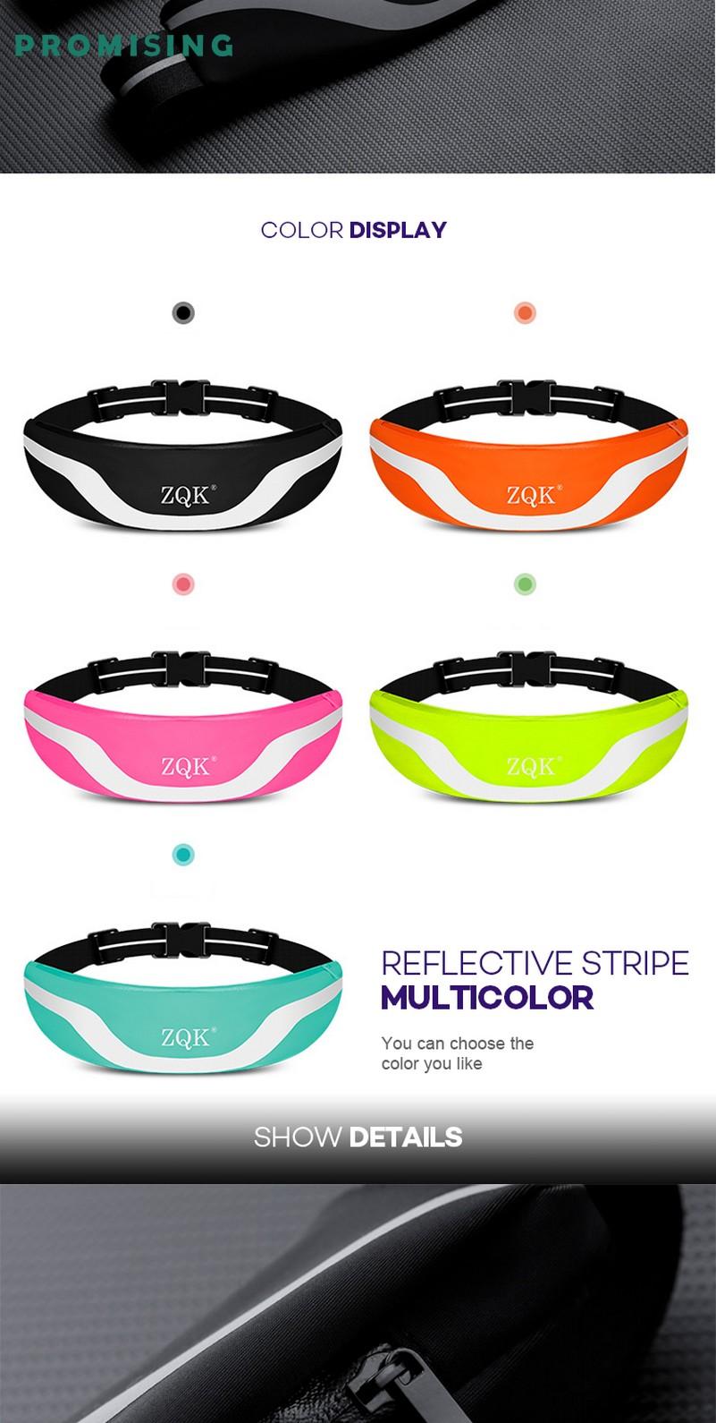 Best waterproof running belt colorful running sports waist Bag
