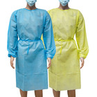 CN directly Supplier PP+PE Non Woven Disposable Visit Gown White working clothes for Hospital isolation gown Food Factory