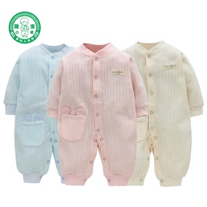 Wholesale custom organic cotton winter outfit baby romper jumpsuit