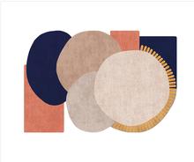 INS популярный современный геометрический напольный коврик, без волос, легкий уход, Специальный домашний декоративный коврик с принтом, прод...(Китай)