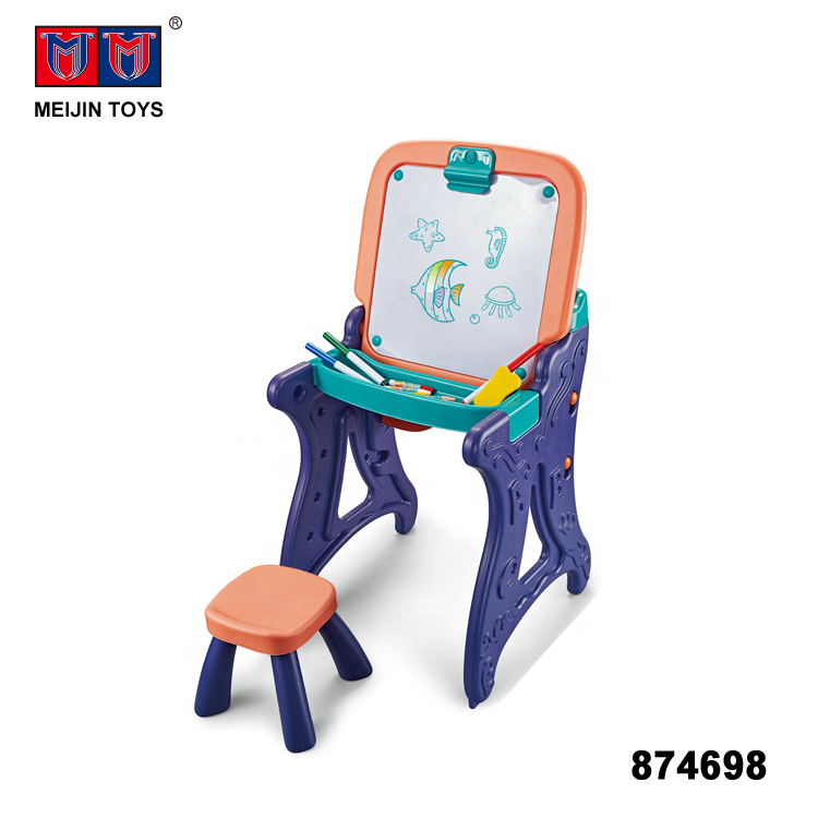 intelligent toys painting learning table kids drawing board set with chair