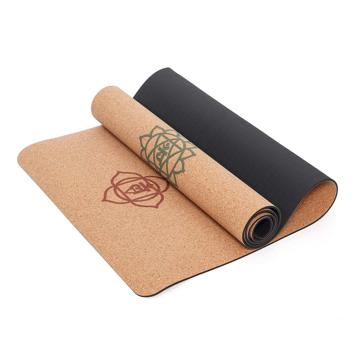 Hot Selling Custom Printed cork yoga mat Fitness Exercise Mat Floor Aerobics Soft Gymnastics Mat