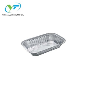 Custom high quality aluminum foil airline food serving trays