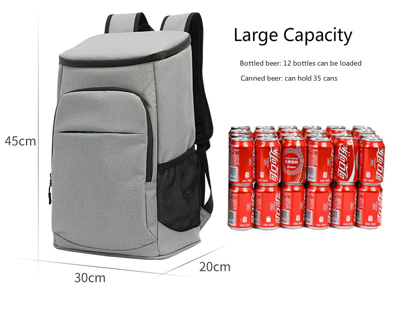 product-New 30L Soft Cooler Bag 35 Cans 100 Leak proof Cooler Backpack 600D Oxford Waterproof Picnic-2