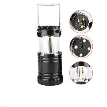 Factory Rechargeable LED Flashlight Lantern Cheap 3*AA battery Powered 3W Bright COB Led Camping Lantern with Magnet on base